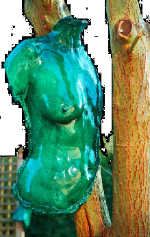 Once again the sumptuous (weatherproof) Malachite finish delivers additional impact to this delightful Female Torso