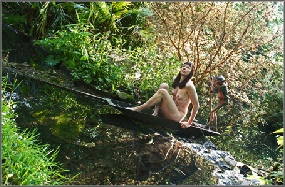 Who Pays The Ferryman? 50142: Rural, contemplative Figurative Art from The Spa Collection
